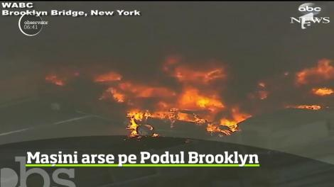 Accident violent pe podul simbol al New York-ului, Brooklyn Bridge