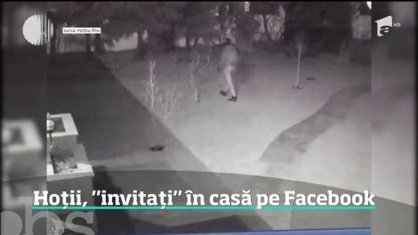 """Hoții, """"invitați"""" în casă prin intermediul rețelei de socializare Facebook"""