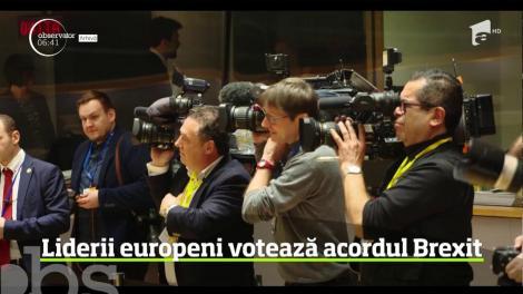 Zi decisivă la Bruxelles. Liderii statelor din Uniunea Europeană stabilesc soarta acordului final Brexit