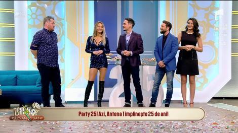 """Party 25! Antena 1 împlinește 25 de ani! Dani: """"Amalia știe Antena 1 de la vârsta biberonului"""""""
