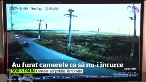 După ce au furat tot ce era de furat într-un sat din Dâmboviţa, hoţii au dat atacul până şi la camerele de supraveghere