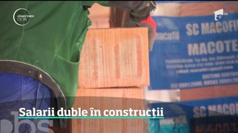 Românii care lucrează în construcţii ar putea avea salariu minim dublu faţă de restul angajaţilor