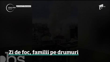 Trei incendii au mistuit mai multe case din Bucureşti, dar şi o fabrică din Reghin