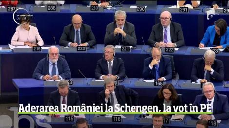 Sprijin pentru România în demersul de aderare la spaţiul Schengen din partea Parlamentului European