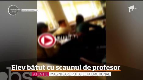 Un elev de clasa a 7-a din Ploieşti a fost bătut cu scaunul de un profesor de biologie