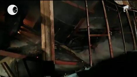 Garaj în flăcări, în Galați