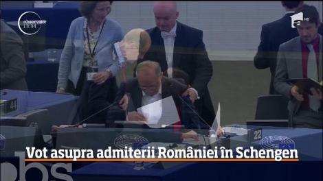 O rezoluţie pentru admiterea României şi Bulgariei în spaţiul Schengen este supusă la vot în Parlamentul Europea