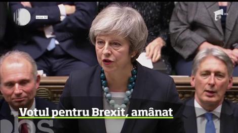 Confruntată cu posibilitatea unei înfrângeri usturătoare, care îi putea atrage chiar demiterea, premierul britanic Theresa May a amânat votul asupra Brexitului