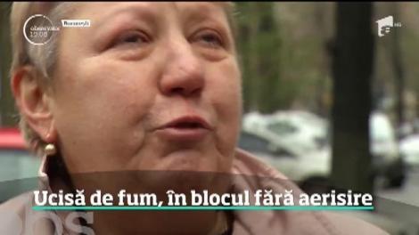 O femeie a murit şi zeci de oameni s-au salvat în ultimul moment dintr-un bloc cuprins de flăcări, în Capitală