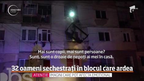 Zeci de copii şi adulţi au trăit clipe de groază aseară într-un bloc din oraşul Bucecea, judeţul Botoşani