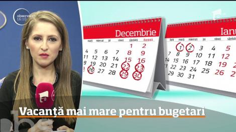 Vești excelente pentru toți bugetarii! Guvernul prelungeşte minivacanţele de Crăciun şi Revelion.  Câte zile libere vor primi angajații de la stat