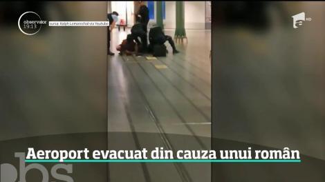 Aeroportul Schiphol din Amsterdam a fost evacuat din cauza unui român! Bărbatul a ameninţat pasagerii cu un cuţit