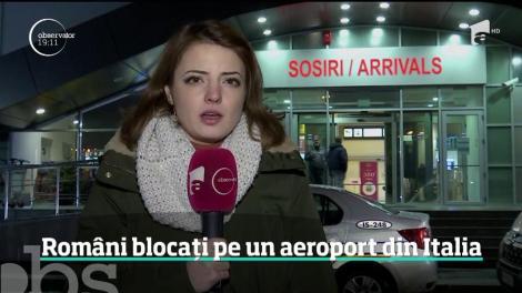 Aproape 200 de români sunt blocaţi pe aeroportul Bologna din Italia