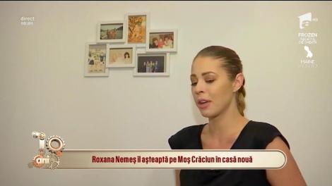 """Roxana Nemeș îl așteaptă pe Moș Crăciun în casă nouă: """"Este prima dată când locuiesc singură"""""""