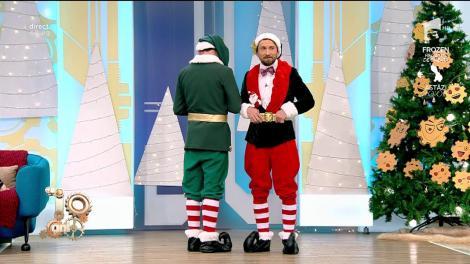 """Ce apariție! Răzvan și Dani s-au transformat în Elfii lui Moș Crăciun: """"Toată noaptea am împachetat cadouri"""""""