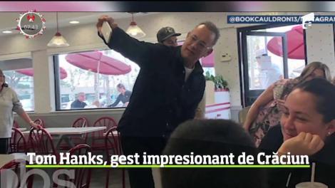 Tom Hanks i-a surprins pe clienţii unui fast-food din California!