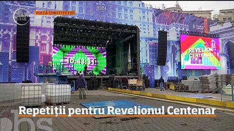 Repetiții pentru Revelionul Centenar din Piaţa Constituţiei