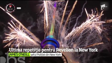 Ultima repetiție pentru Revelion la New York