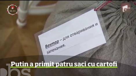 Preşedintele rus Vladimir Putin a primit în dar, pe final de an, patru saci cu cartofi