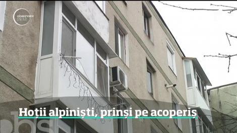 În Râmnicu Vâlcea, doi indivizi au coborât de pe bloc cu o frânghie şi au încercat intre pe fereastră, ca nişte alpinişti profesionişti