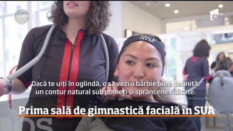 Câțiva antreprenori britanici au deschis prima sală de gimnastică facială din lume