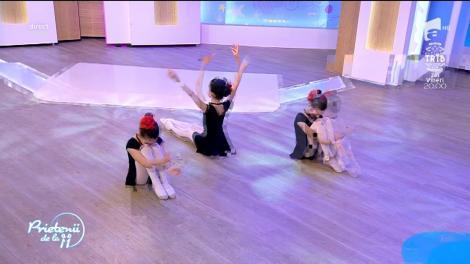 Micile balerinele de la Bucharest City Ballet, invitate la Prietenii de la 11!