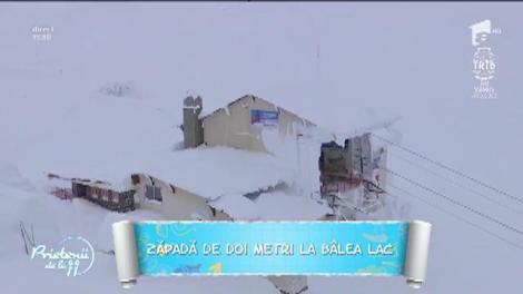 Zăpadă de doi metri la Bâlea Lac! Există risc mare de avalanşă