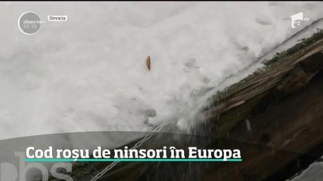 Cod roșu de ninsori în Europa. Meteorologii anunţă căderi masive de zăpadă