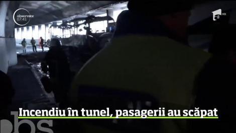 Incendiu într-un tunel din Eveția, pasagerii au scăpat