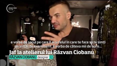 Atelierul lui Răzvan Ciobanu, spart de hoți! Câți bani a pierdut designerul - VIDEO