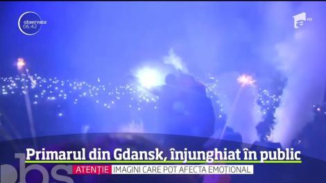 Primarul oraşului polonez Gdansk este internat în stare critică după ce a fost înjunghiat pe scena unui spectacol de binefacere, în faţa a sute de spectatori