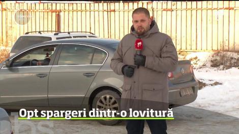 O bandă de hoţi a făcut prăpăd într-o parcare din Capitală