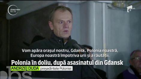 Polonia, în stare de şoc după asasinarea brutală a primarului din Gdansk! Zeci de manifestații împotriva violenței au avut loc în toată țara