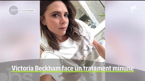 Victoria Beckham foloseste o crema pentru fata facuta din propriul ei sange!