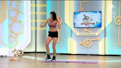 Fitness cu Diana Stejereanu. Antrenament full body