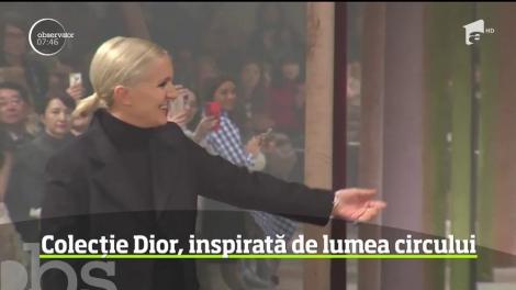 Celebra casă Dior a inaugurat săptămâna modei de la Paris printr-o colecţie inspirată din lumea circului