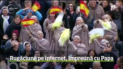 Credincioşii catolici din toată lumea pot, de acum înainte, să se roage împreună cu Papa Francisc, prin intermediul unei aplicaţii pentru tablete şi telefoane