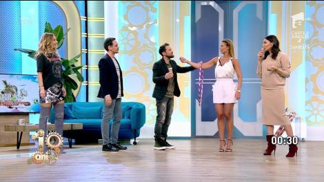 """Roxana Nemeș a făcut hula hoop cu înghețată în mâini, la """"Neatza cu Răzvan și Dani"""". Dani Oțil, către Răzvan Simion: """"Ești nesimțit, Haplea!"""" – VIDEO"""