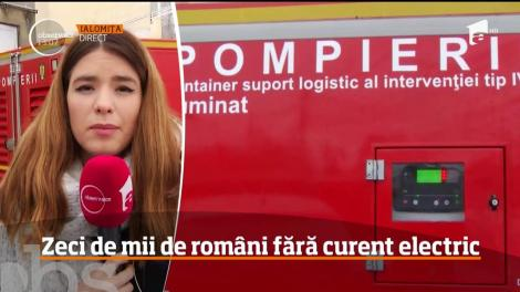 Zeci de mii de români fără curent electric. Cele mai mari probleme sunt în Urziceni