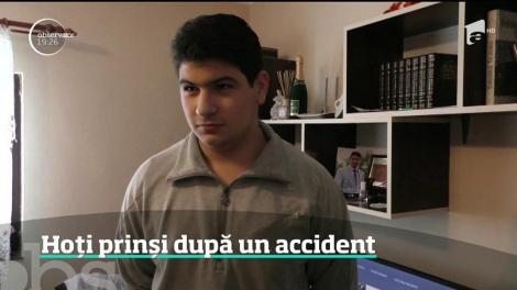 Hoţi din Bran, prinşi din cauza unui accident cu maşina