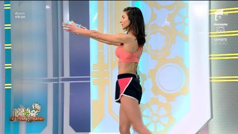 Fitness la Neatza cu Diana Stejereanu! Îndreptări clasice cu o greutate