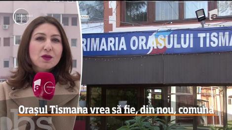 La 15 ani de când a fost decretată oraş, localitatea Tismana are toate şansele să redevină comună