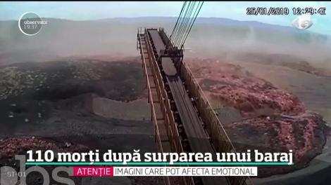 Momentul în care un baraj din Brazilia se prăbuşeşte a fost surprins de o cameră de supraveghere