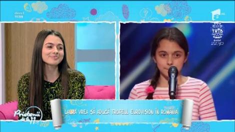 """Laura Bretan vrea să aducă trofeul Eurovision în România: """"Am emoții. Vreau să dau tot ce am mai bun în mine"""""""