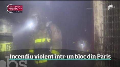Incendiu violent într-un bloc din Paris