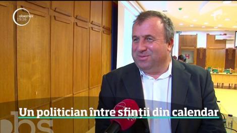 Un politician din Argeş a vrut să se vadă printre sfinţi. Într-un calendar, după asemănarea celui bisericesc
