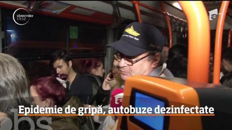 Toate autobuzele din Capitală au fost dezinfectate