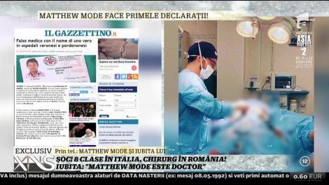 """Matthew Mode, falsul doctor, primele declarații după izbucnirea scandalului:""""Din momentul în care statul român mi-a echivalat diplomele, mă numesc medic!"""""""