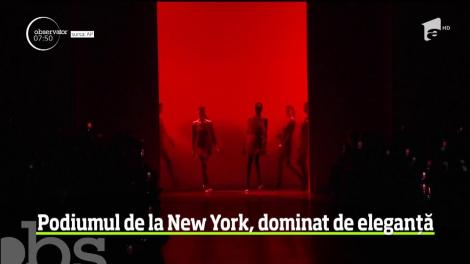 Podiumul de la New York, dominat de eleganță