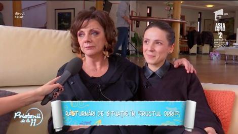 """Carmen Tănase și Cosmina Dobrotă, dezvăluiri fabuloase din culisele serialului """"Fructul Oprit"""": """"Simțim când ceva nu este în regulă"""". Video"""